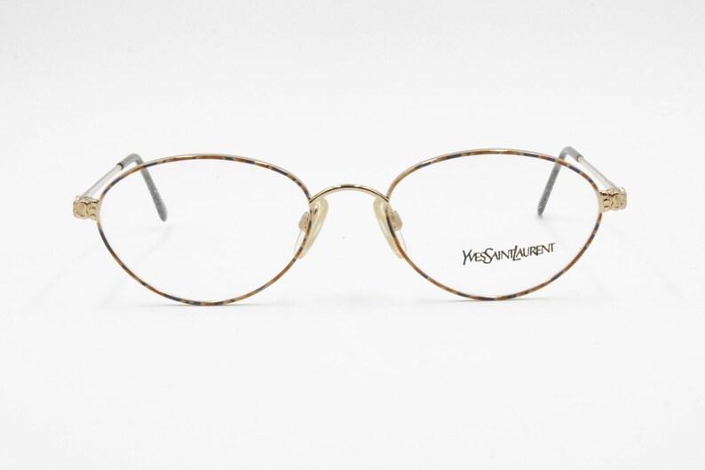 3b630bbe98b Yves Saint Laurent YSL oval single eyeglasses frame frame