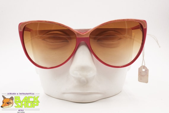 Vintage Red & Striped cat eye Sunglasses by LUCIE… - image 6
