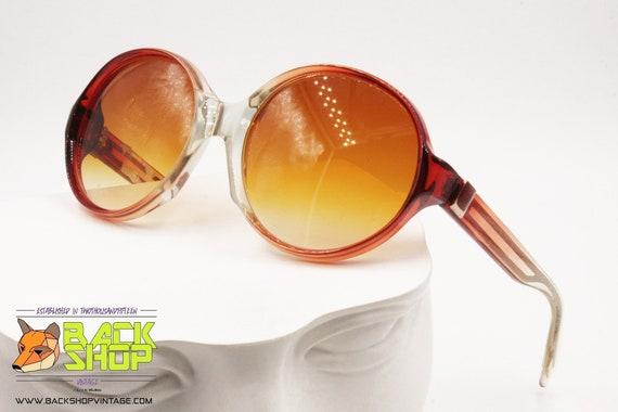 LANVIN Sunglasses, round rims Red & Clear, Vintag… - image 1