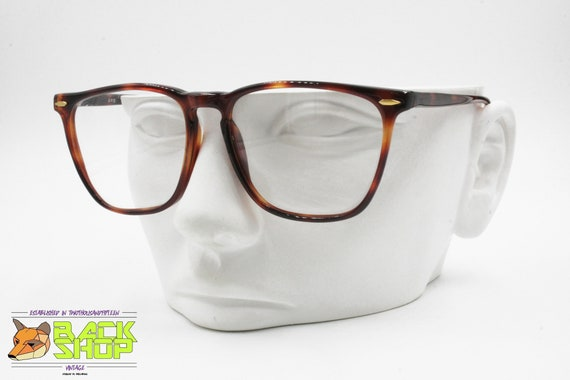 D.O.P. Mod. 1056 brown square eyeglass frame wayfarer style, New Old Stock 1980s