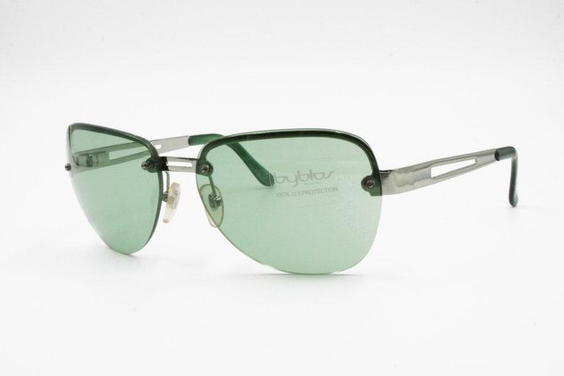 fd9edbd1199 Byblos Vintage 90s Sunglasses mod. B 721-S green lenses Bug