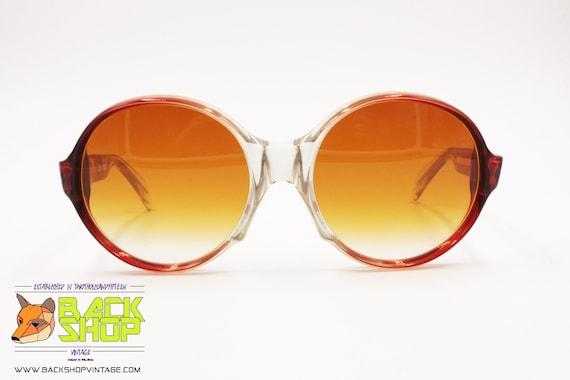 LANVIN Sunglasses, round rims Red & Clear, Vintag… - image 3