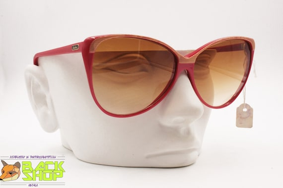 Vintage Red & Striped cat eye Sunglasses by LUCIE… - image 8