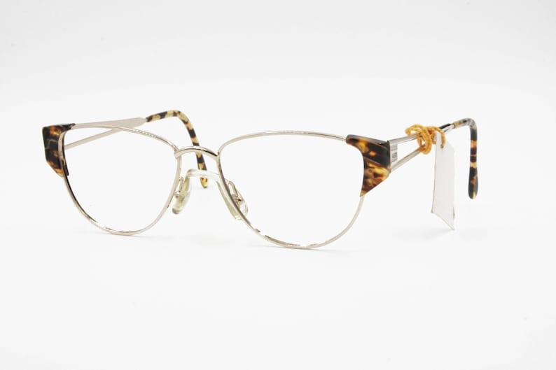 30f4ffcde81d Vintage 1990s wayfarer cat eye eyeglasses frame VALERY DE