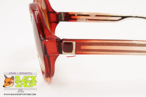 LANVIN Sunglasses, round rims Red & Clear, Vintag… - image 9