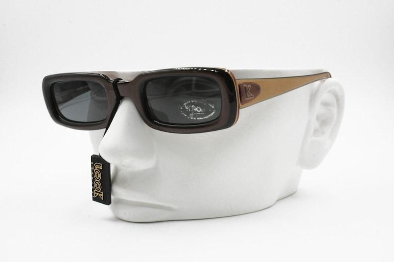 2371b8cfdd LOOK Vintage squared sunglasses men women multilayer
