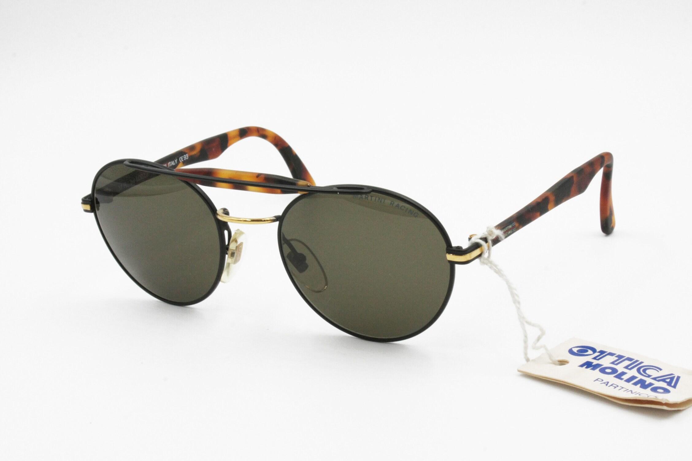 c83a48aa9bc21 Martini Racing by Lozza Aviator Vintage Sunglasses matte