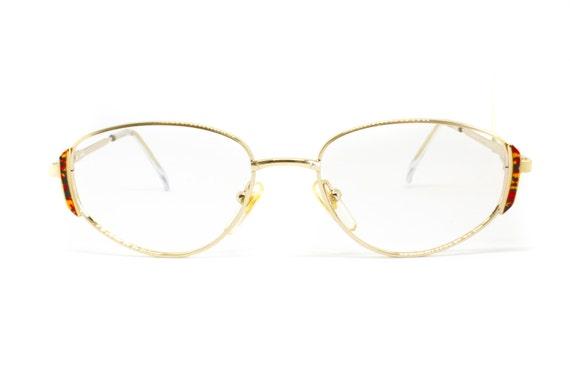 2f0a2becf820d9 Petites lunettes ovales womens FIELMANN mod. cadre motif orné   Etsy