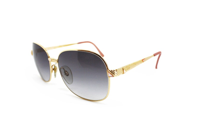 2756ccf5ff9 Oversize womens sunglasses Christian Dior 2424 gold and