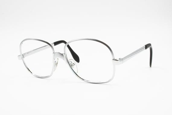 2f38ac3575 Luxottica 50s 60s steel eyewear frame Silver satin e glossy