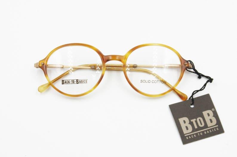 2ba3b6808dc5d Round blond eyeglasses frame Safilo Back to Basic mod. BTOB