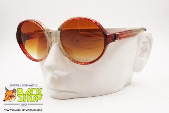 LANVIN Sunglasses, round rims Red & Clear, Vintag… - image 6