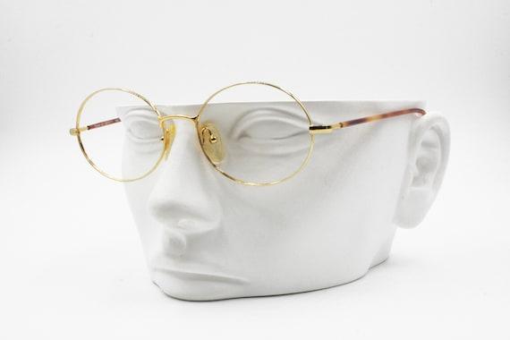 2be8b905e25 VOYAGER by TREVI Golden round Vintage eyeglass frame Elengant