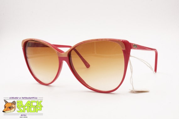 Vintage Red & Striped cat eye Sunglasses by LUCIE… - image 3