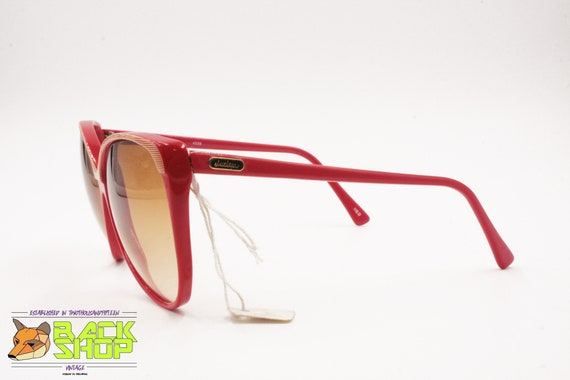 Vintage Red & Striped cat eye Sunglasses by LUCIE… - image 4