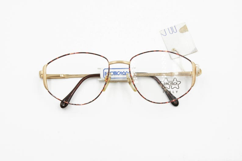 831a788acac2 Vintage Luxottica eyeglasses frame prescription Golden filled