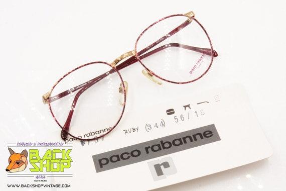 PACO RABANNE Paris round oversize frame, ruby chan