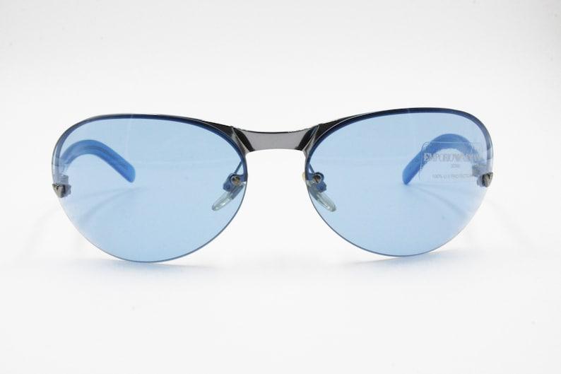808d4cf2646 Emporio Armani 207-S 1306 Sunglasses blue lenses rimless