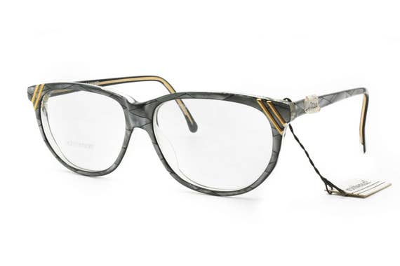 Gianni Versace eyewear mod. 421 oval frame gray and black