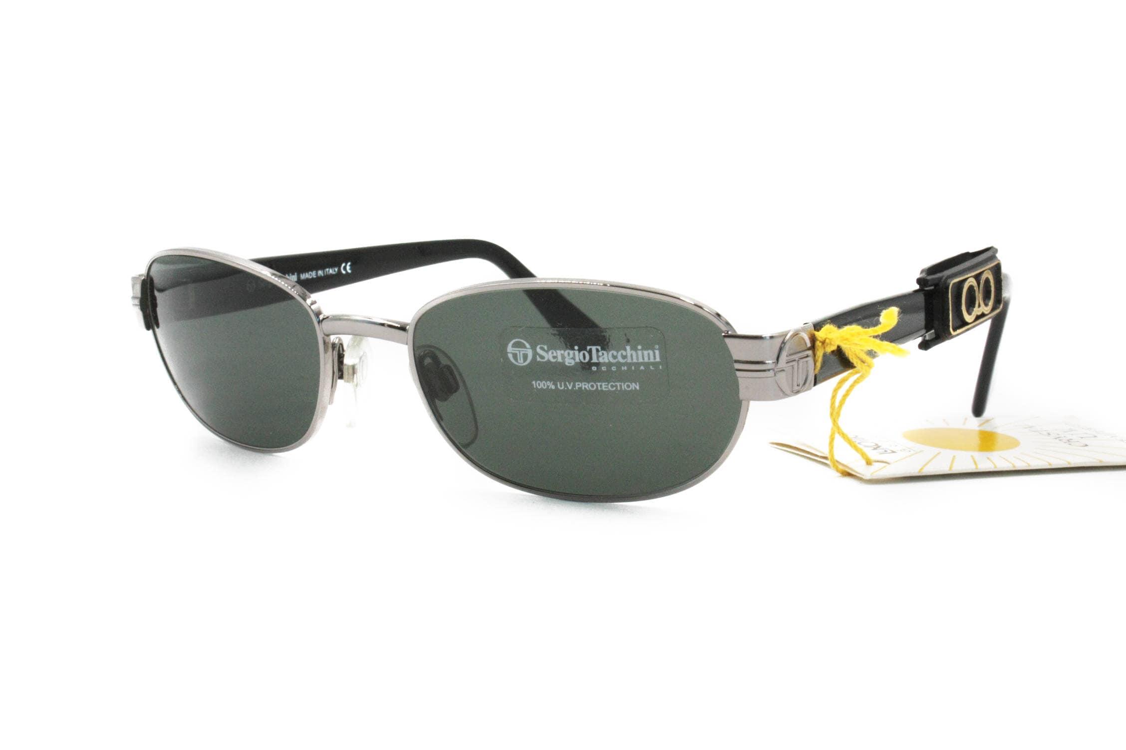 43727b9dcc85 Sergio Tacchini deadstock sunglasses oval-rectangular front