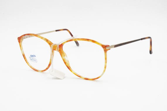 dc9bb8d61d9 1980s SAFILO Linea 5611 blode orange dappled acetate and metal