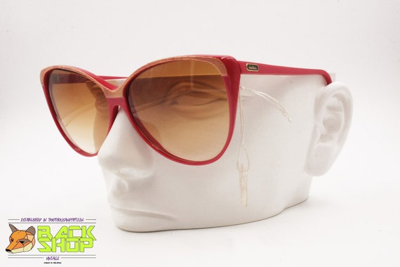Vintage Red & Striped cat eye Sunglasses by LUCIE… - image 7