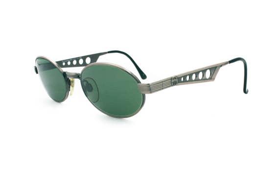 b5325776cf Sergio Tacchini mod. S.T. 1045 S oval gunmetal sunglasses
