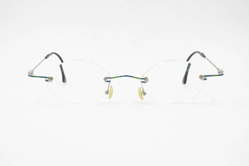e20525042387 Rimless reading glasses ROCCO made in Germany    vintage late