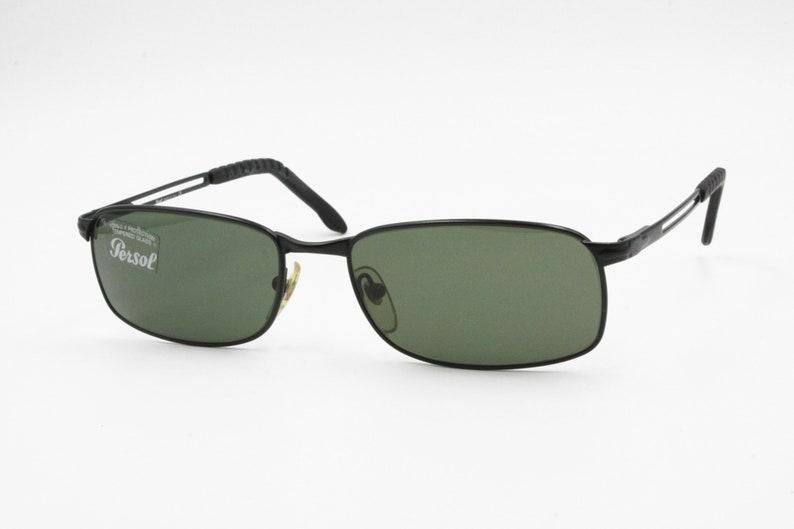 a035d432672 Persol 2118-S 594 31 Vintage squared man sunglasses Black