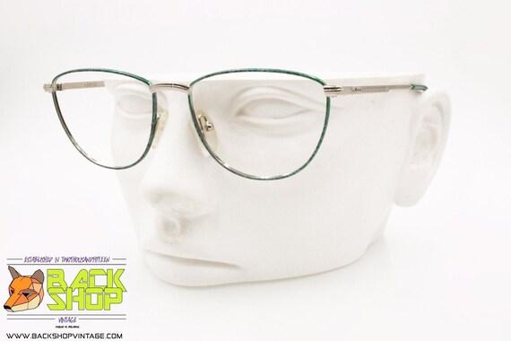 Swanky Vintage Silver Frame Cat Eye Glasses