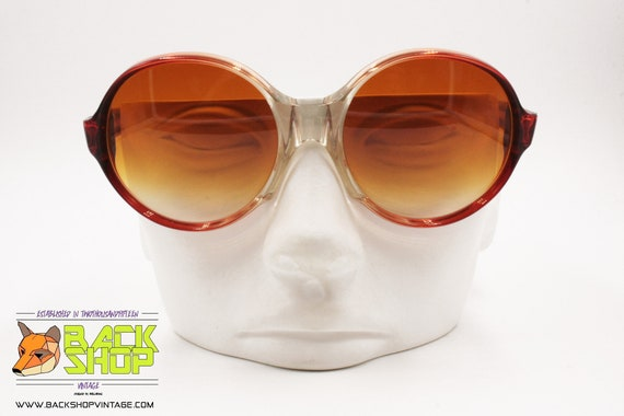 LANVIN Sunglasses, round rims Red & Clear, Vintag… - image 5