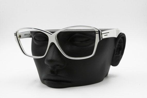 74edace0339 Luxottica vintage rectangular eyeglasses sunglasses frame