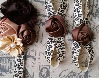 Headband and barefoot sandals, Cheeta Style