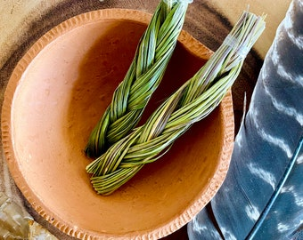 Mini Sweetgrass Cleansing Bundle   Sweetgrass Stick for Attracting Positive Vibes + Abundance   Energy Clearing + Healing