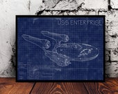Star Trek USS Enterprise NCC-1701 blueprints A4 print