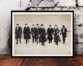 Peaky Blinders wall art A4 watercolour print PeakyFans Tommy Shelby Arthur Shelby Jon Shelby gift for him gift for her home decor Birmingham