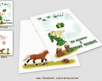 Legend Of Zelda Birthday Card