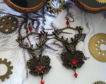 "Earrings ""Deers in the forest"""