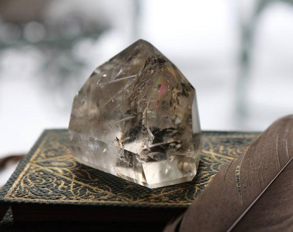 Citrine Crystal Point 70g, Small Citrine Point, Standing Citrine, Polished Citrine Point, Healing Crystals, Crystal Grid, Reiki