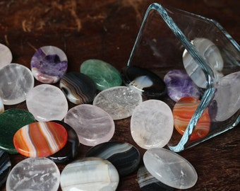 Crystal Thumb Stones, Crystal Worry Stones, Rose Quartz Thumb Stone, Amethyst, Crystals For Anxiety, Reiki, Pocket Stones, Talisman