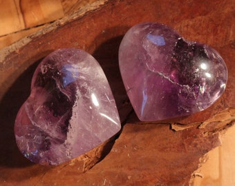 Medium Amethyst Hearts