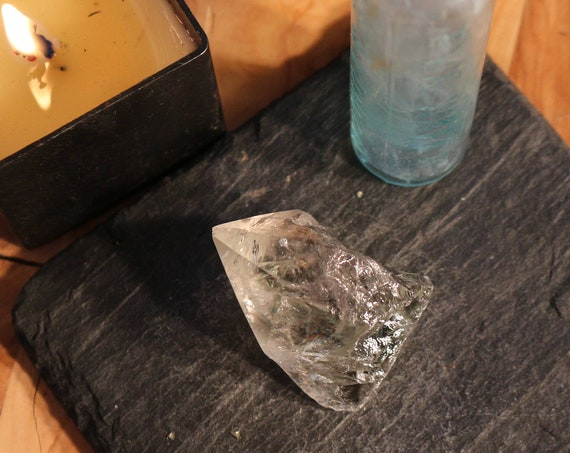 Prasiolite Point, aka ~ Green Amethyst!