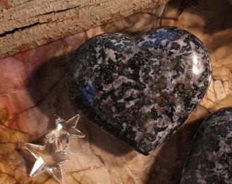 "4"" Gabbro Crystal Heart, Madagascar"