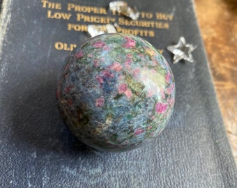 Ruby with Blue Kyanite and Zoisite Sphere 52mm