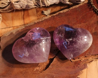 Medium Sized Uruguyan Amethyst Hearts