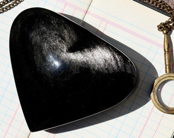 HUGE Silver Sheen Obsidian Heart ~ over 1.4 lbs.