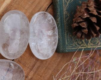 Clear Quartz Palm Stones