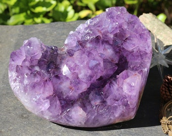 Large Heart Shaped Amethyst Geode ~ 6 lbs. ~ The Perfect Wedding Gift!