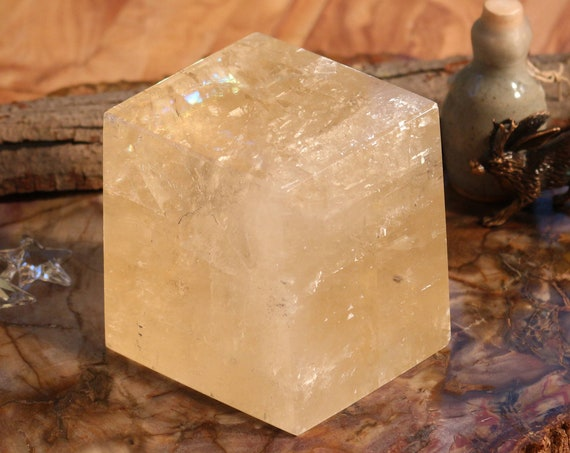 Large Golden Calcite Chunk ~ 2.07 lbs.