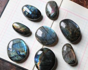 Labradorite Palm Stones, Various Size Labradorite Palmstones, Polished Labradorite, Reiki, Rainbow Palmstone, Pocket Crystal, Talisman